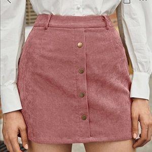 SHEIN  Front Cord Mini Skirt